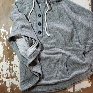 American Eagle Hood, Buttons & Pockets Poncho